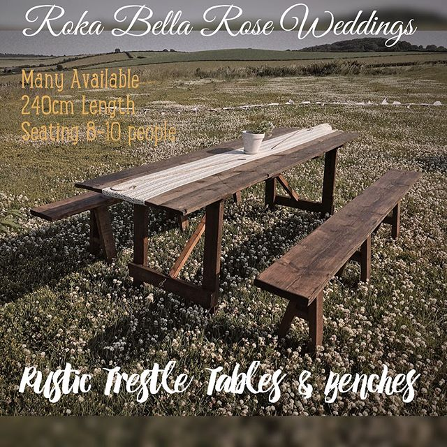 Rustic Trestle Tables and Benches for Hi