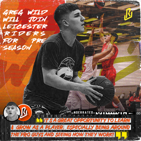 GREG WILD WILL JOIN LEICESTER RIDERS BBL TEAM FOR THE PRE SEASON