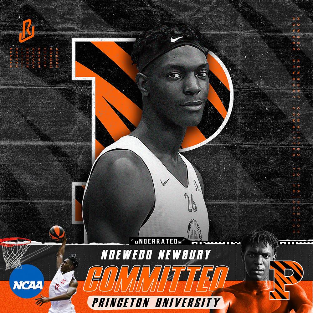 Ndewedo Newbury Committed to Princeton University Men's Basketball