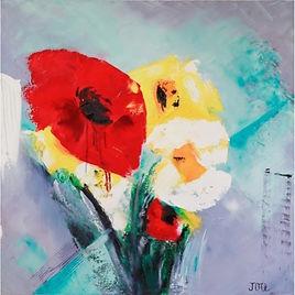 Oeuvre de fleurs par l'artiste peintre Joce