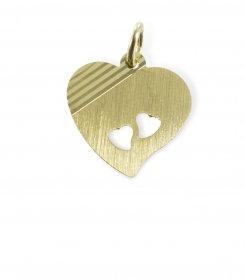 Gravurplatte mit Herz diamantiert