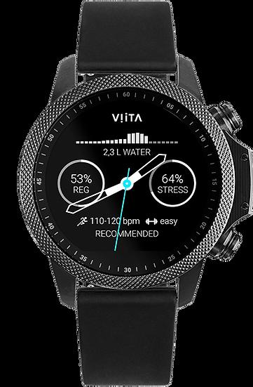 Viita Watch Active HRV Adventure schwarz/schwarz Silicon