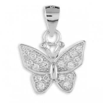 Anhänger Schmetterling mit 18 Zirkonia