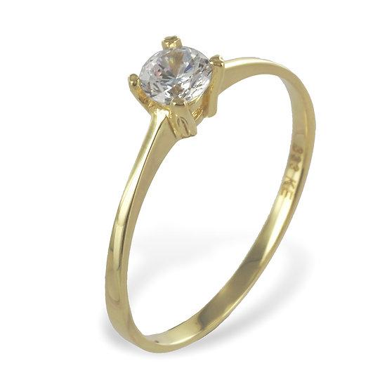 Ring mit Zirkonia 4mm Gold 333/000