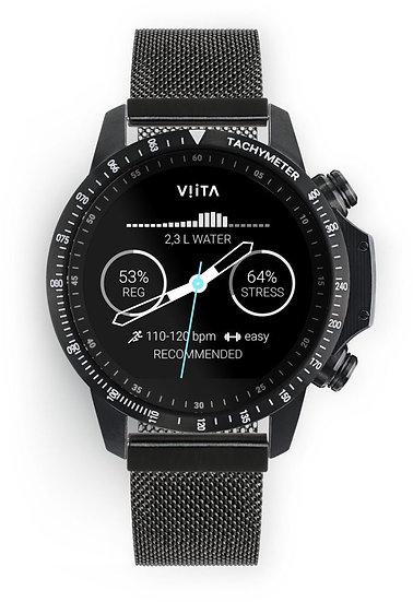 Viita Watch Active HRV Tachymeter schwarz/schwarz Mesh