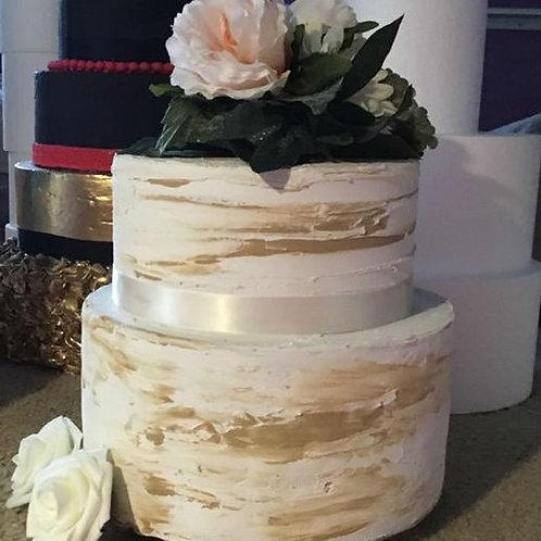 Fake cake Rustic