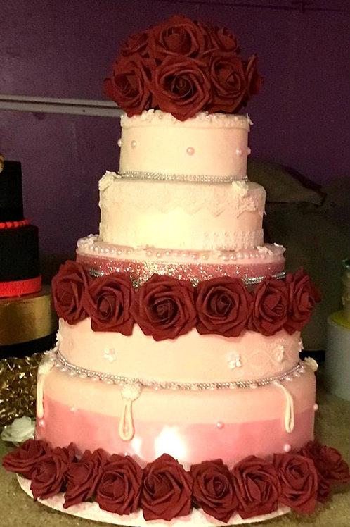 wedding pink cake MaryAnn