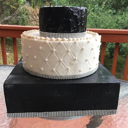 Mr Black and White fake cake