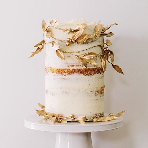 Wedding Cake Rustic gold