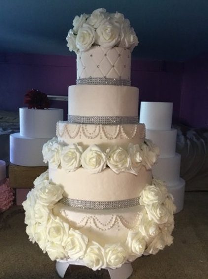 Wedding Fake Cake Ivory