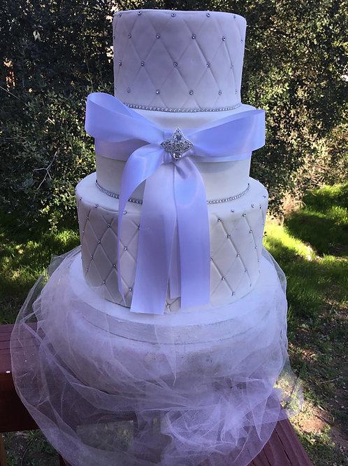 Wedding Fake cakes Diamonts