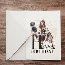 Birthday Card included