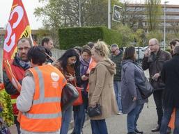 Mobilisation des salariés d'Eysines le 12 avril contre le PSE :