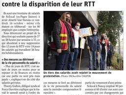 Grève contre le projet d'avenant ARTT