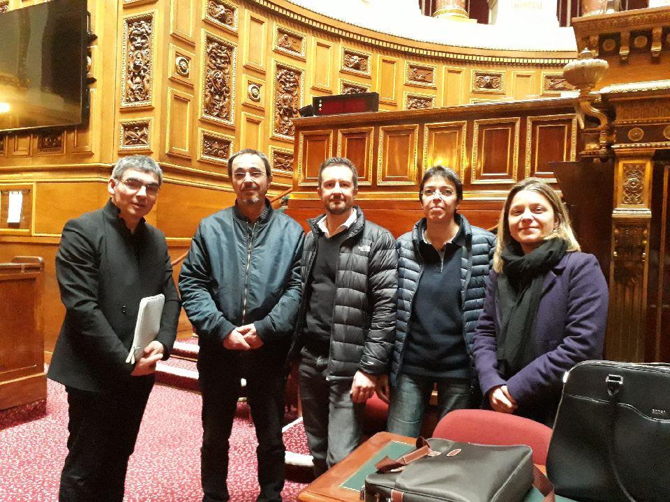 Vendredi 06 matin, RDV de l'intersyndicale avec PIerre Ouzoulias, sénateur et conseiller départemental des Hauts de Seine. Alain et Hélène étaient présents