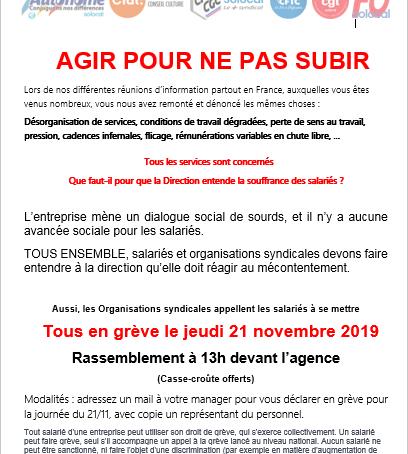 Solocal en grève le jeudi 21 novembre 2019