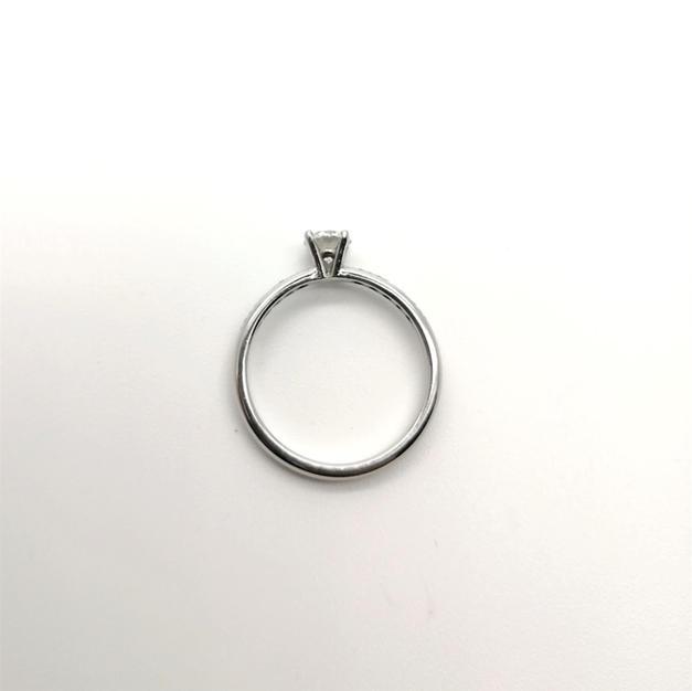 Platinum, diamond set shoulders CSA050