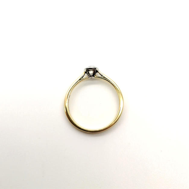 18ct gold, platinum rubover setting CSA021