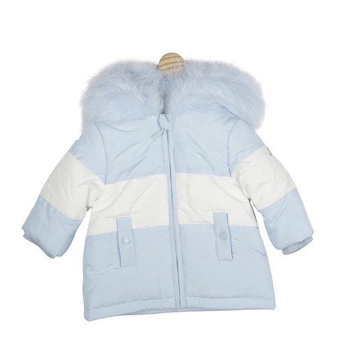 Mintini Blue & White Fur Jacket