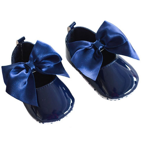 Navy Bow Shoes