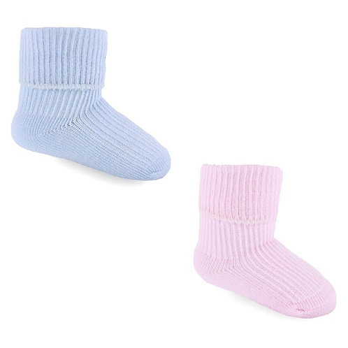 Plain Blue & Pink Socks