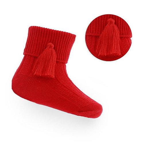 Red Tassle Socks