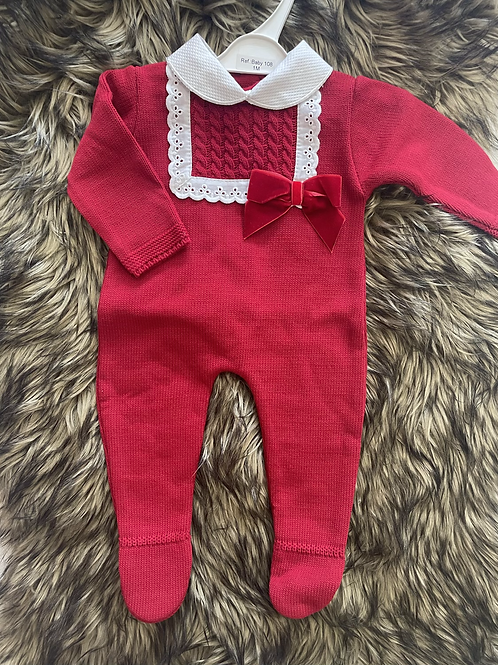 Red Knitted Set