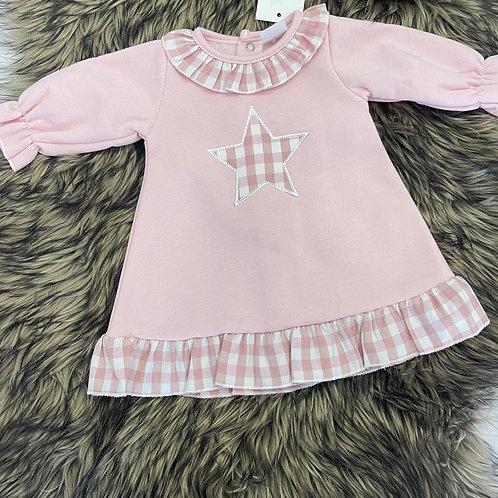 Dusty Pink Star Dress