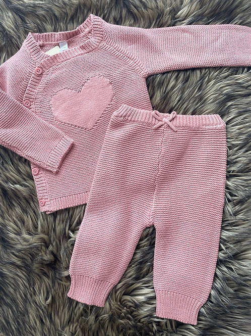 Dusty Pink Knitted Set
