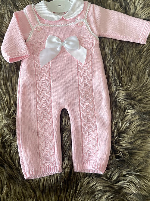 Knitted Dungarees Set