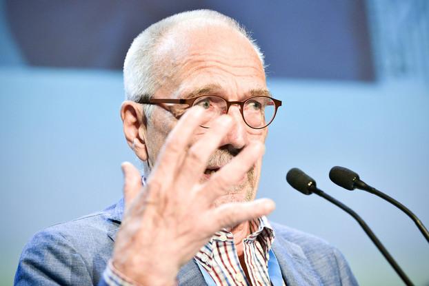 Europarlamentaarikko Nils Torvalds RKP:n puoluekokouksessa / Lehtikuva