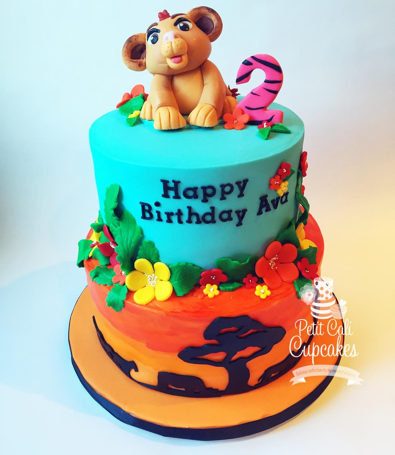 Lion Guard Theme Birthday Cake