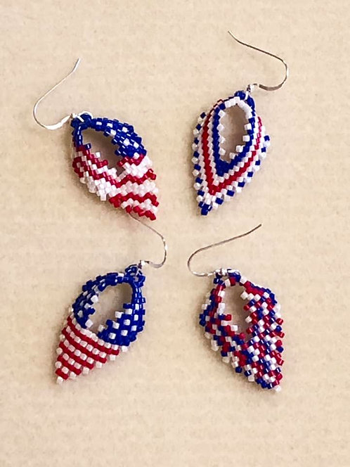 Patriotic Leaf Earring Class July 1  (2-4)