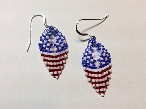 Patriotic Leaf Earring Class June 16  (1-3)