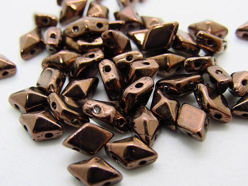 DiamonDuo 5x8mm 2-Hole Bead - Dark Bronze