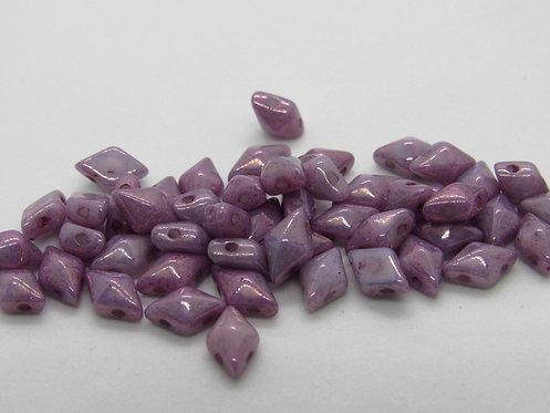 DiamonDuo 5x8mm 2-Hole Bead - Chalk Lumi Purple