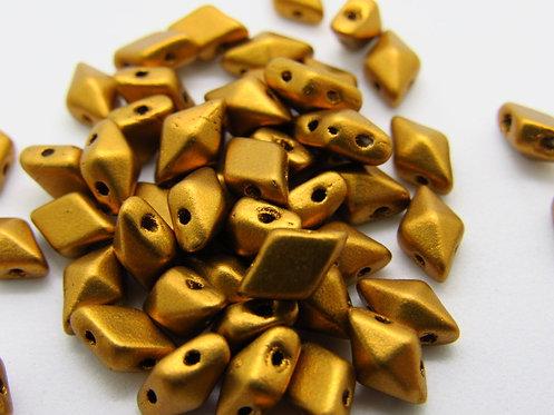 DiamonDuo 5x8mm 2-Hole Bead - Matte Brass