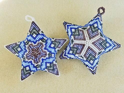 Dendrite 3D Peyote Puffy Star - 2 in 1