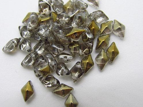 DiamonDuo 5x8mm 2-Hole Bead - Crystal Bronze