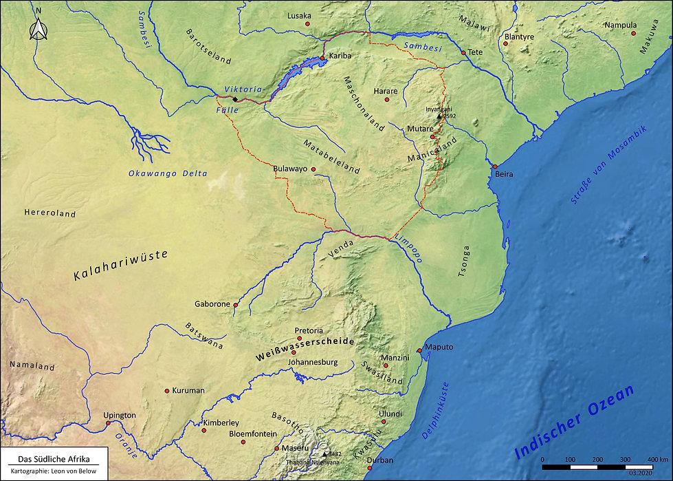 Simbabwe Landkarte, Map Zimbabwe