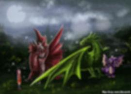 Драконы переглянулись, один из них сделал приглашающий жест и подставил крыло.