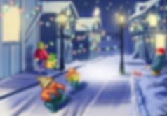 Повсюду светились разноцветные фонарики, деревья были украшены гирляндами, и даже домашние животные расхаживали, позвякивая праздничными бубенцами, повязанными атласными лентами на шею.