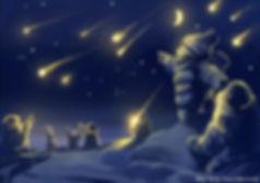 В эту ночь с неба сыплются самые настоящие звезды - теплые и лучистые.