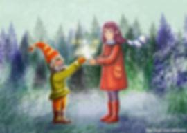   Лицо скитальца озарилось радостью, он осторожно взял коробку двумя руками, из которой бил ровный искрящийся свет.