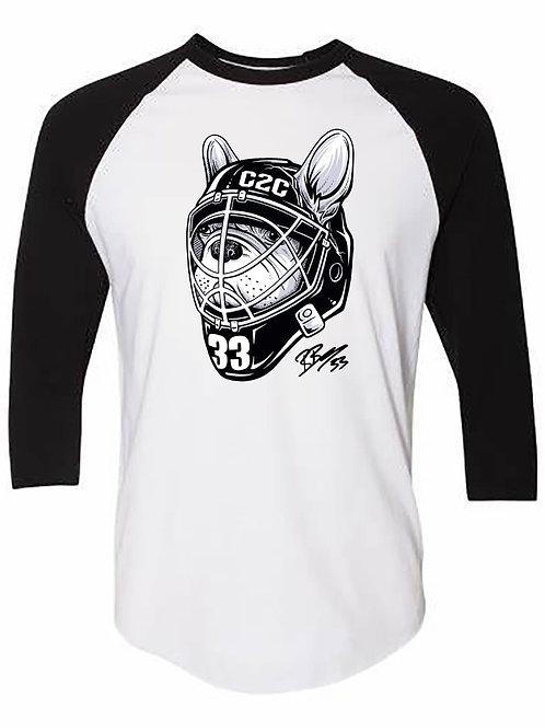 Goalie Stitch Baseball Tee