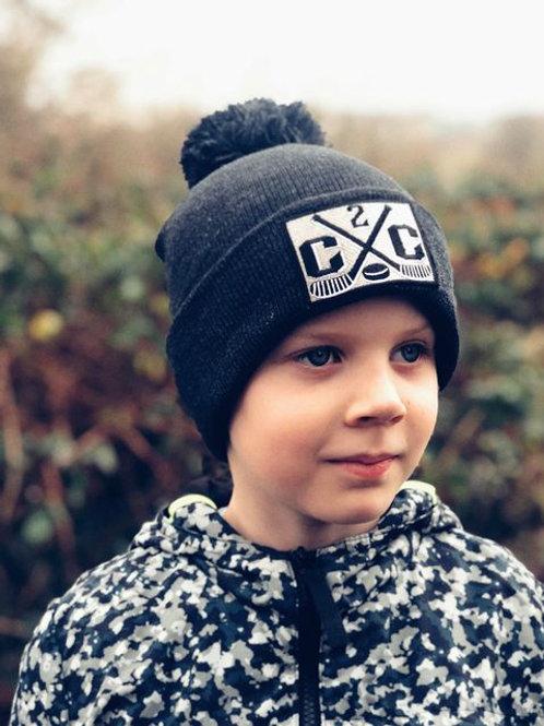 Children's Cross Sticks Bobble Hat