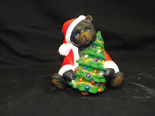 Santa bear w/tree