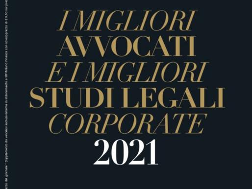Best law firms 2021 - Sole 24 ore - Milano Finanza