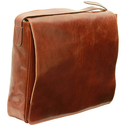 Italian Veg Tan Leather Laptop Bag