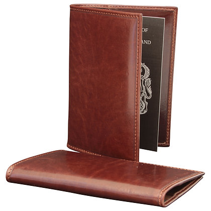 Soft Calfskin Leather Passport Holder